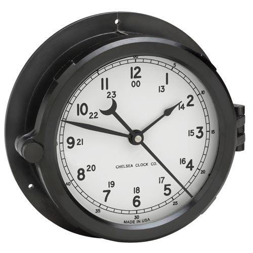 (Chelsea Clock Patriot Deck Clock, White Dial)