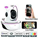 TR-Wireless HD IP Wifi CCTV indoor Security Camera,(White Color)