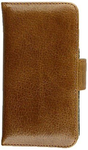 Alston Craig Schutzhülle Leder Vintage Book für Apple iPhone 5S/SE (Displayschutzfolie inklusive)–Braun
