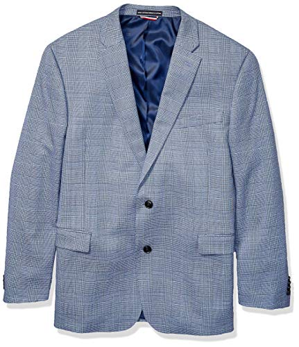 (Tommy Hilfiger Men's Classic Blazer, Blue British Plaid, 42R)