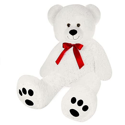 Amazon.com: cucunu Giant Teddy Bear White XXL - 55 inches Stuffed Animal - Plush Toy: Toys & Games