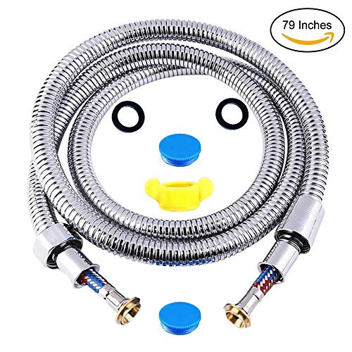 - Shower Hose 79 inches 6.6ft,Handheld Showerhead Sprayer Stainless Steel Tube,Super Explosion-Proof Durable Hose,Extension Replacement Part With Brass Coupler(G1/2-Inch) (79