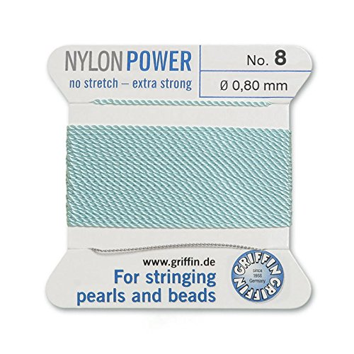- Griffin Bead Cord Nylon Turquoise #8