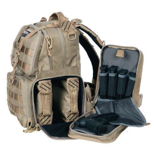 G.P.S. T1612BPT Tactical Range Backpack, Tan