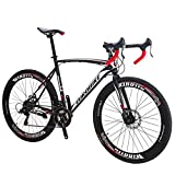 EUROBIKE Road Bike TSM550 Bike 21 Speed Dual Disc Brake 700C Wheels Road