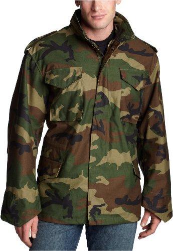 - Alpha Industries Men's M-65 Field Coat, Woodland Camo, Medium