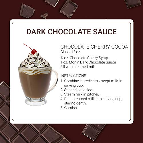Monin - Gourmet Dark Chocolate Sauce, Velvety and Rich, Great for Desserts, Coffee, and Snacks, Gluten-Free, Vegan, Non-GMO (64 Ounce) by Monin (Image #4)