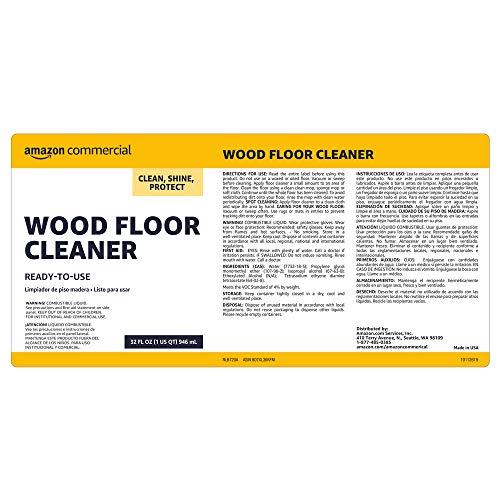 AmazonCommercial Wood Floor Cleaner RTU, 32-Ounces, 2-Pack