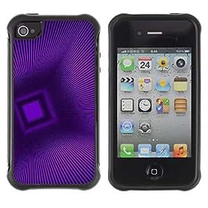 WAWU Funda Carcasa Bumper con Absorci??e Impactos y Anti-Ara??s Espalda Slim Rugged Armor -- purple polygon stripes pattern 3D -- Apple Iphone 5C