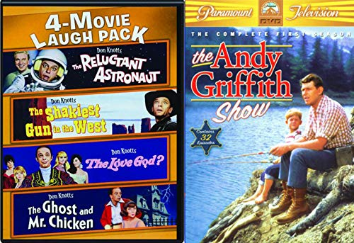 Down Home with Don Knotts in Mayberry Pack Andy Griffith Show TV Series + The Ghost and Mr. Chicken / Reluctant Astronaut / The Love God? / The Shakiest Gun in the West Comedy Film Set