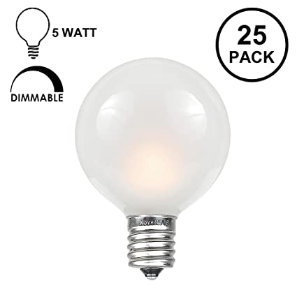 Amazon novelty lights 25 pack g40 outdoor globe replacement novelty lights 25 pack g40 outdoor globe replacement bulbs frosted white c7e12 mozeypictures Choice Image