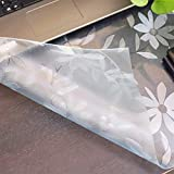 VALLEY TREE 42 x 64 Inch Daisies Table Cover, 1.5mm Thick PVC Plastic Desk Protector, Vinyl Table Pad, Waterproof Desk Mat for Dining Table or Office Desk