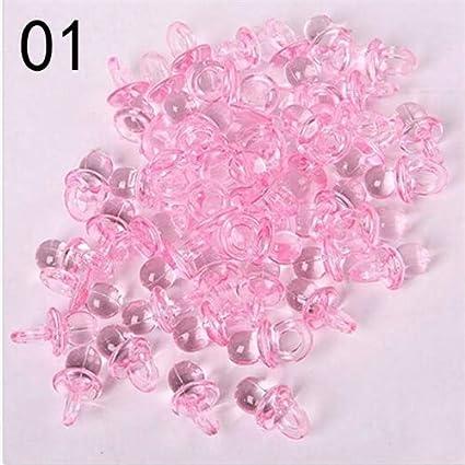 Ochoos Miniatures - Lote de 100 Mini chupetes Transparentes ...