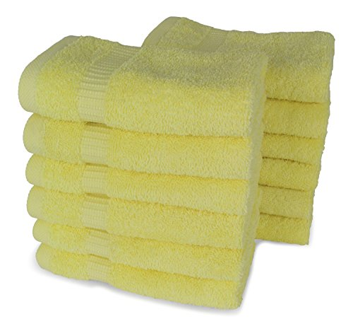 SALBAKOS Luxury Hotel & Spa Turkish Cotton 12-Piece Eco-Friendly Washcloth Set for Bath, 13 x 13 Inch, (Spa Washcloth)