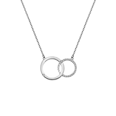 circle chain sterling pendant diamond silver products d with necklace