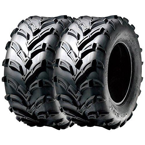 SunF ATV UTV Mud & All Terrain Tires 22x11-9 22x11x9 6 PR A024 (Set pair of 2) by SunF (Image #1)