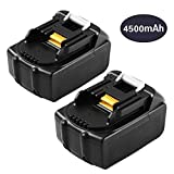 4500mAh 2 Packs BL1845 Replace for Makita 18V Lithium-ion Battery BL1815 BL1830 BL1840 BL1850 BL1860 194205-3 LXT-400 Cordless Drill