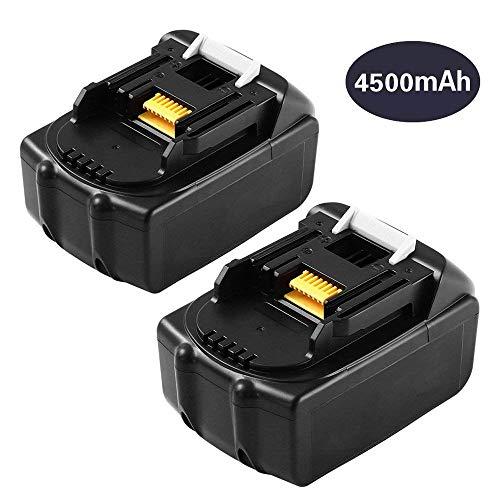 4500mAh 2 Packs BL1845 Replace for Makita 18V Lithium-ion Battery BL1815 BL1830 BL1840 BL1850 BL1860 194205-3 LXT-400 Cordless Drill by Dosctt