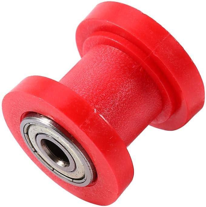 10mm Chain Roller Slider Tensioner Wheel Guide Pit for Dirt Bike Motor ATV Red Aramox Car Chain Roller