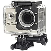 Boyiya New Full HD 1080P WIFI H16 Waterproof Action Sports Camera Camcorder 2 inch Ultra HD display screen (Silver)