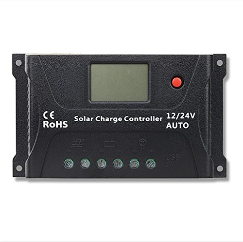 SUNRICH 20A PWM Smart Solar Charge Controller with LCD Display (20A) by SUNRICH