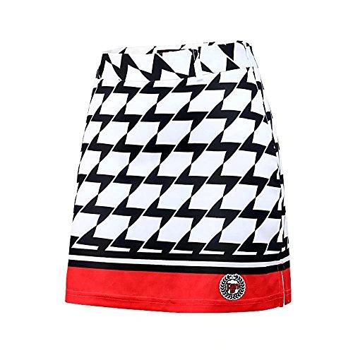 Kayiyasu ゴルフスカート 見せパン付き ゴルフウェア レディース スポーツドレス 女性用 ミニスカート ストレッチ アウトドア 021-xsty-qz021(L レッド)