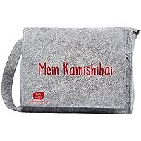 """Umhängetasche """"Mein Kamishibai"""" aus grauem Filz, mit längenverstellbarem Tragriemen und langem Überwurf: Schützt Ihr Kamishibai vor Kratzern auf dem ... (Zubehör für das Erzähltheater Kamishibai)"""