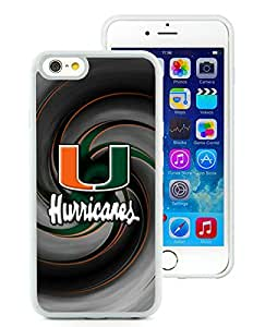 Newest iPhone 6/iPhone 6S 4.7 Inch TPU Case ,NCAA Atlantic Coast Conference ACC Footballl Miami (FL) Hurricanes 5 White iPhone 6/iPhone 6S 4.7 Inch TPU Screen Case Unique And Durable Custom Designed Cover Case