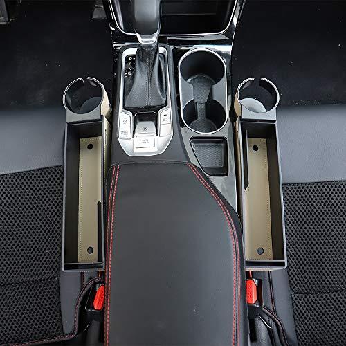 Car Seat Gap Filler Premium PU Full Leather Seat Console Organizer, Car Pocket Organizer, Car Interior Accessories, Car Seat Side Drop Caddy Catcher (1 Pack)
