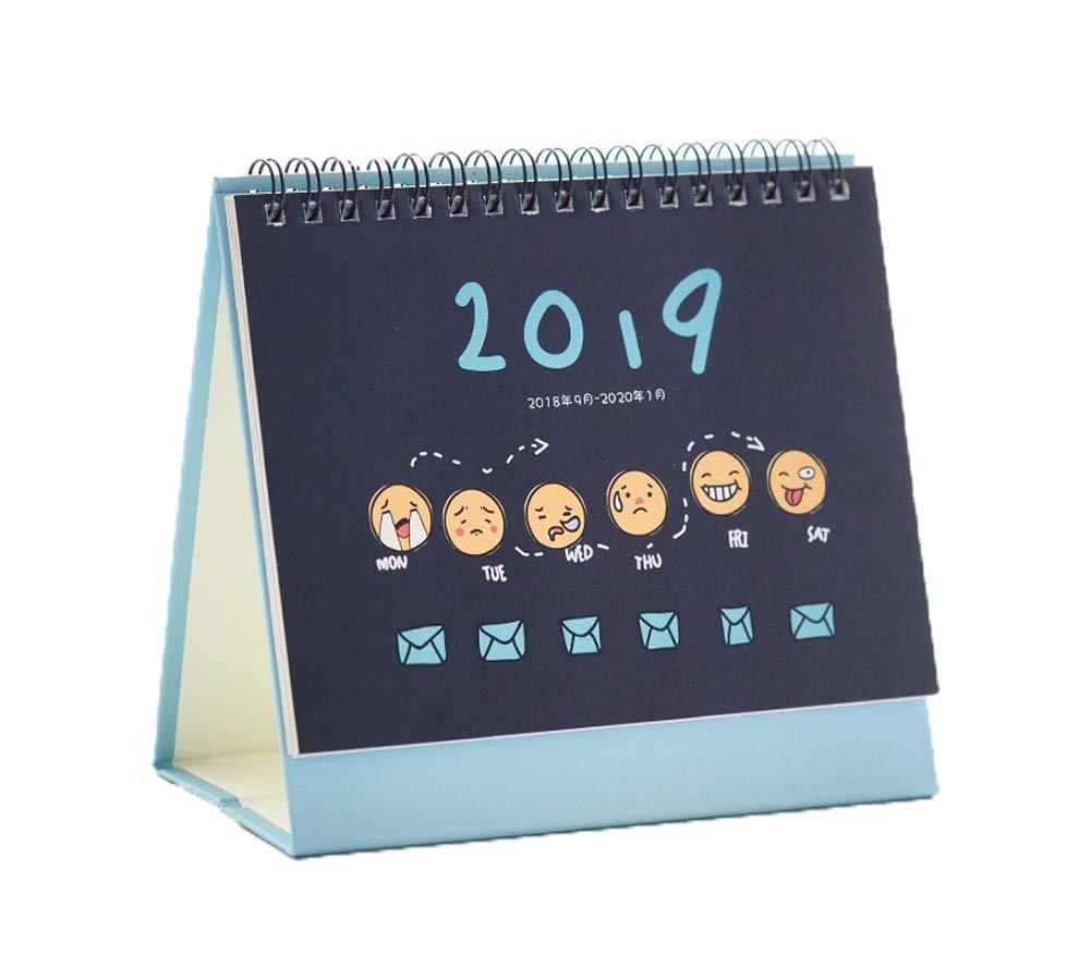 Año académico de Calenda de escritorio Agosto 2018-2019 ...
