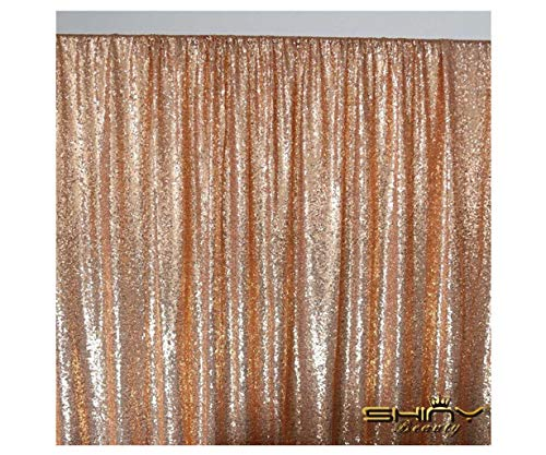 - ShinyBeauty Sparkle Backdrop Curtain Rose Gold 2 Panels Set Sequin Photo Backdrop 2FTx8FT Sequin Backdrop Curtain Pack of 2~1220S