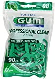 Beauty : Gum Eez-Thru Flossers Mint, 90 count (Pack of 3)