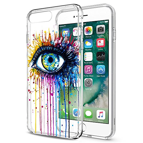 iPhone 7 / iPhone 8 Case, Eouine Soft TPU Silicone Bumper Back Cover [Shock Absorption ] Clear Protective Cases for Apple iPhone 7 / iPhone 8, Multicolor Eye (Eye Phone)