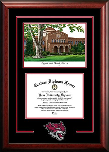 Campus Images CA919SG California State University, Chico Spirit Graduate Diploma Frame with Lithograph Print, 8.5