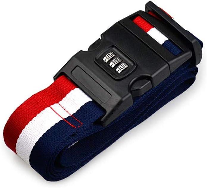 LLXLD Cinturón de Equipaje Bloqueo de contraseña con Embalaje y Estuche de Viaje en el Extranjero Paquete de Paquete de Palabras con Cuerda de Refuerzo marcada: Amazon.es: Equipaje
