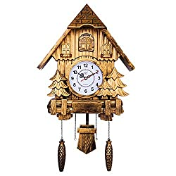 Framy Cuckoo Clock Fashion Living Room Wall Clock 20inch Alarm Clock Quality Swing Pocket Watch Modern Brief Hourly Broadcast Time,b