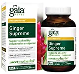 Gaia Herbs Ginger Supreme, Vegan Liquid Capsules, 60 Count – Organic Ginger Root and Turmeric Curcumin Supplement For Healthy Inflammatory Response, Digestion and Occasional Nausea Review