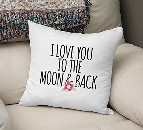 Indigo Letter Pillow (I Love To The Moon & Back Pillowcase Throw pillowcase designer home decor decorative bench cushion cover custom party favor pillow cover pillowcase office decor 16x16 pillow cover)