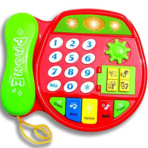 - HenMerry Multi-Function Phone Toy Telephone Toy for Baby Kids,Animal Number Color Learning Toy Early Education Simulation Cell Phone Toy with Music Lights