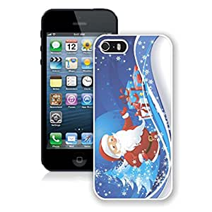 Iphone 5s Case,Snowflakes Christmas Tree Santa Claus White Case For Iphone 5 5S Protective Case