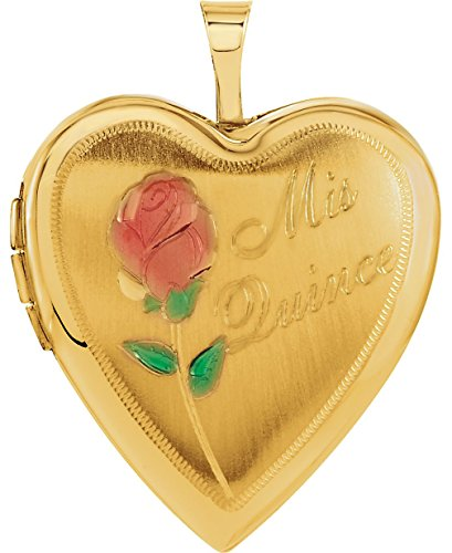 14k Yellow Gold Mis Quince Años Heart Locket Pendant by The Men's Jewelry Store (for KIDS)