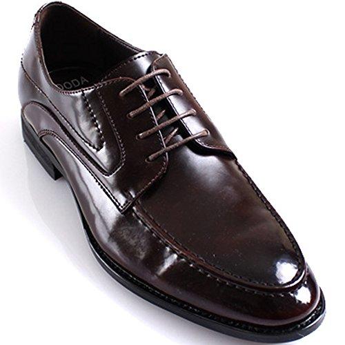 Nuevo Mooda Fashion Modern Formal Oxford Leather Lace Dress Zapatos Wine