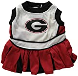 NCAA University of Georgia Bulldogs Cheerleader Dog Outfit - Small
