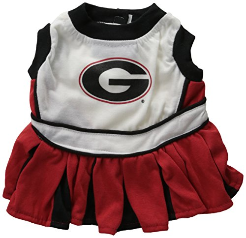 NCAA University of Georgia Bulldogs Cheerleader Dog Outfit,  Small