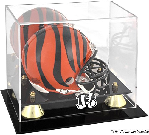 Cincinnati Bengals Golden Classic Mini Helmet Display Case