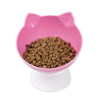 L&XY Orejas De Gato Cuenco De Gato Boca Oblicua Agua para Beber Cuenco De Comida para