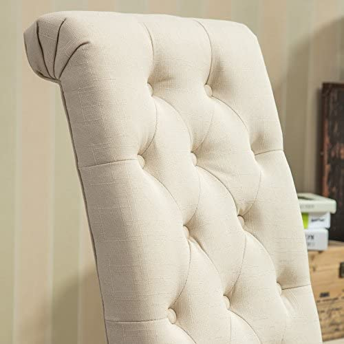 home, kitchen, furniture, kitchen, dining room furniture,  chairs 7 image Roundhill Furniture Habit Solid Wood Tufted Parsons Dining in USA