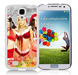 Galaxy S4 Case,Christmas Lingerie Girl Christmas Series-TPU White S4 Protective Case,Samsung S4 I9500 Case