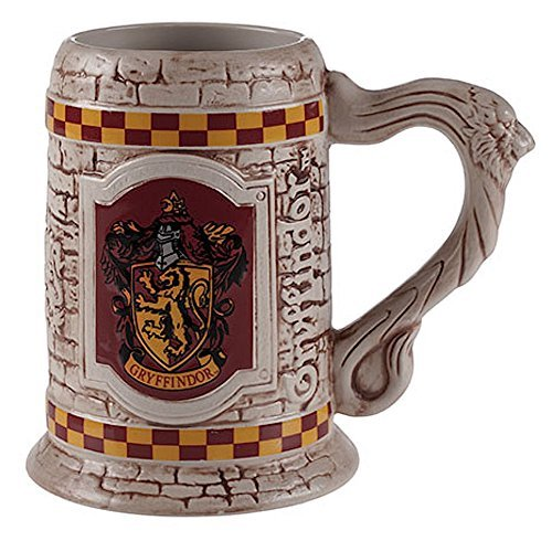 Wizarding World of Harry Potter : Sculpted Ceramic Gryffindor Stein Mug Cup