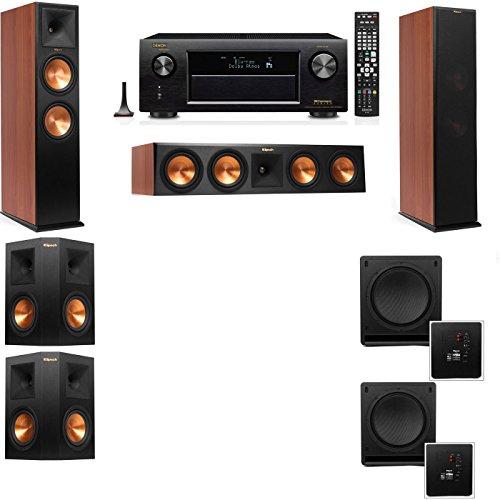 Klipsch RP-280F Tower Speakers CH-SW-112-5.2-Denon AVR-X4100W